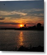 Sunset By The Inlet Metal Print