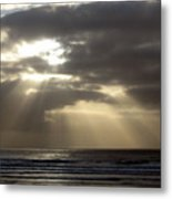 Sunset By The Sea Photograph Metal Print