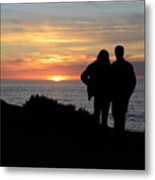 Sunset California Coast Metal Print