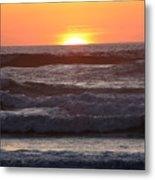 Sunset Cannon Beach Metal Print