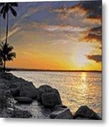Sunset Caribe Metal Print