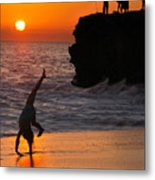 Sunset Cartwheel Metal Print