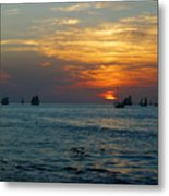 Sunset Celebration Key West Fl Metal Print