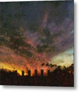 Sunset Cloud Impression Metal Print