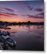 Sunset Clouds In The Sea Metal Print