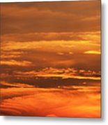Sunset Clouds On Fire Metal Print
