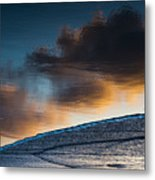 Sunset Clouds Reflect Metal Print
