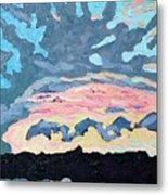 Sunset Cold Front Metal Print