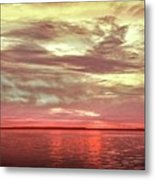 Sunset Colors On The Bay Metal Print