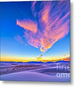 Sunset Colors Over White Sands National Metal Print