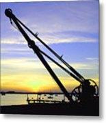 Sunset Crane Metal Print
