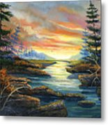 Sunset Creek Metal Print