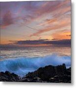 Sunset Curl Metal Print