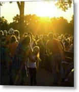 Sunset Dancing Metal Print