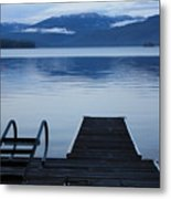 Sunset Dock At Priest Lake Metal Print