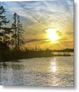 Sunset Dollarville Flooding Newberry Michigan -0243 Metal Print