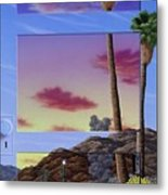 Sunset Door Metal Print