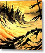 Sunset Extreme Metal Print