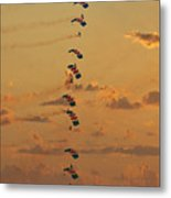 Sunset Falcons Stack Formation Metal Print