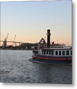 Sunset Ferry In Savannah Metal Print
