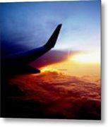 Sunset Flying Metal Print