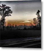 Sunset Fog Metal Print