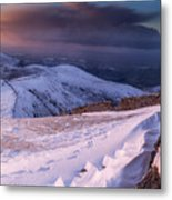 Sunset Following The Mourne Wall Metal Print