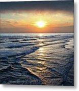 Sunset From Newport Beach Pier Metal Print