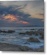 Sunset From Pacific Grove Metal Print