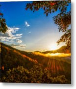 Sunset From The Blue Ridge Parkway Metal Print
