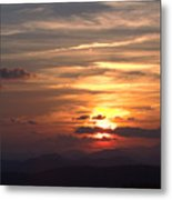 Sunset From The Blue Ridge Parkway Ll Metal Print