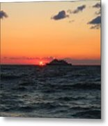 Sunset From The Ferry Metal Print