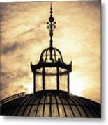 Sunset Glasshouse In Winter Metal Print