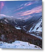 Sunset Glow Over Cannon Mountain Metal Print