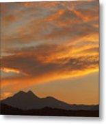 Sunset Glow Over The Twin Peaks Metal Print