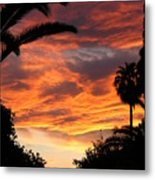 Sunset God's Fingers In Clouds  Metal Print