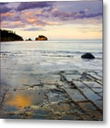 Sunset Grid Metal Print
