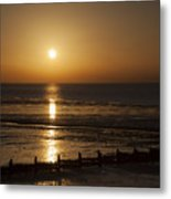 Sunset Hunstanton Metal Print