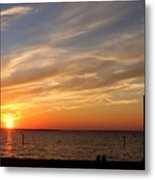 Sunset Huntingon Park Metal Print
