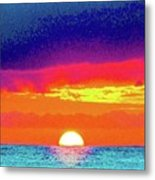 Sunset In Abstract 500 Metal Print