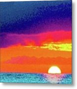 Sunset In Abstract  Metal Print