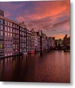 Sunset In Amsterdam Metal Print