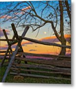 Sunset In Antietam Metal Print