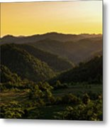 Sunset In Appalachia Metal Print