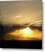 Sunset In Apple Valley, Ca Metal Print