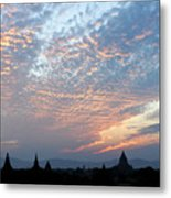 Sunset In Bagan Metal Print