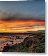 Sunset In Cambria Metal Print