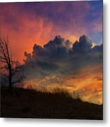 Sunset In Central Oregon Metal Print