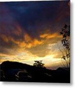 sunset in Cody wy Metal Print