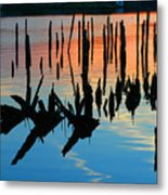 Sunset In Colonial Beach Virginia Metal Print
